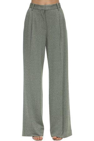 M Missoni Dame Slengbukser - Flared Lurex Jersey Pants