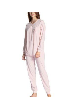 Calida Dame Pyjamaser - Calida Cosy Cotton Nights Pyjama With Cuff * Fri Frakt *