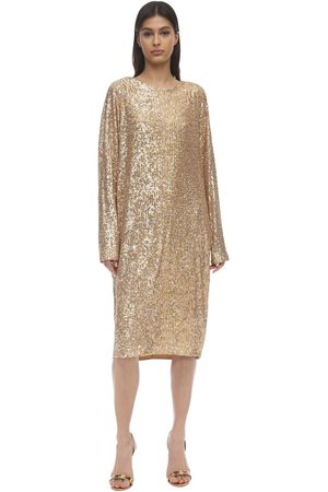 In the Mood for Love Loose Sequined Dress