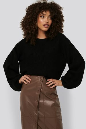 NA-KD Knitted Short Puff Sleeve Sweater