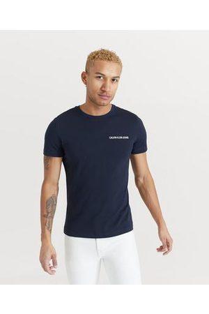 Calvin Klein Herre Kortermede - T-shirt Chest Institutional Slim SS Tee