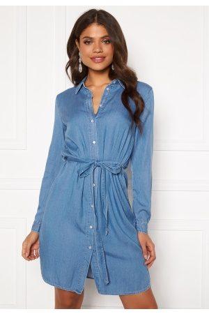 Vila Bista Denim Belt Dress Medium Blue Denim 44