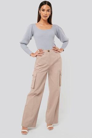 Misslisibell x NA-KD Dame Cargobukser - Big Pocket Cargo Pants