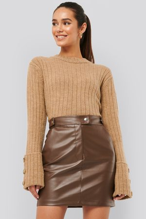 Misslisibell x NA-KD Folded Sleeve Knitted Sweater