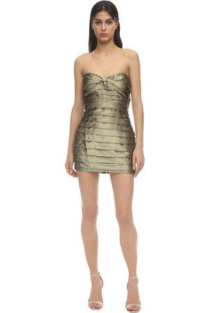 For Love & Lemons Juliette Brocade Mini Dress