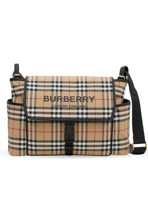 Burberry Logo-print checked baby changing bag