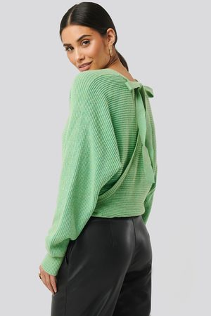 NA-KD Dame Gensere - Overlap Knitted Tie Detail Sweater