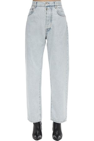 UNRAVEL Dame Boyfriend - Cropped Baggy Cotton Denim Jeans