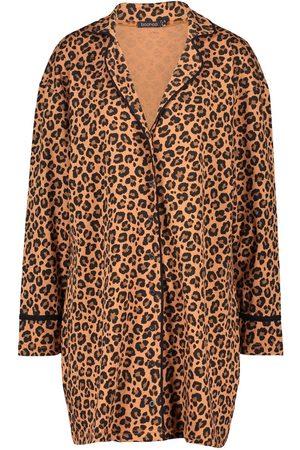 Boohoo Leopard Jersey Night Shirt