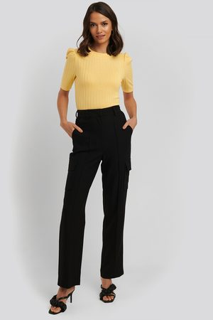 NA-KD Dame Chinos - Straight Fit Pocket Suit Pants
