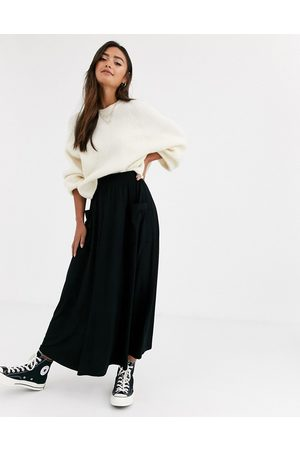 ASOS Midi skirt with pockets in black