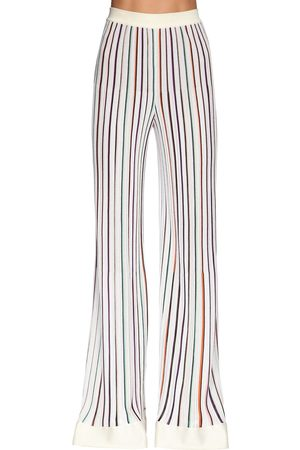 Missoni Dame Bukser - Stretch Knit Wide Leg Pants