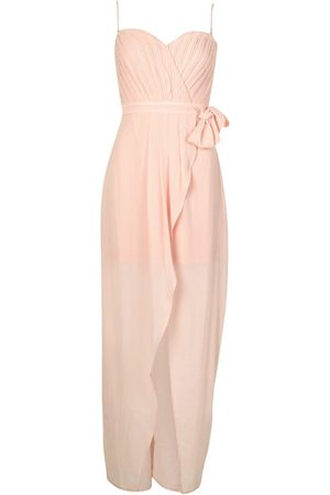 Boohoo Occasion Bandeau Pleated Wrap Maxi Dress