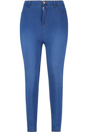 Boohoo Dame Jeggings - Plus Button Contrast Stretch Jegging