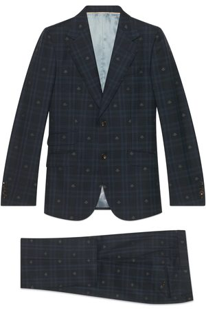 Gucci Heritage bee check wool suit