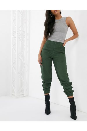 ASOS Slim combat with jogger hem in khaki-Green