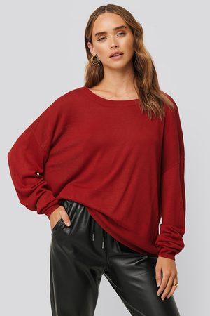 NA-KD Dame Gensere - Fine Knit Drop Hem Sweater