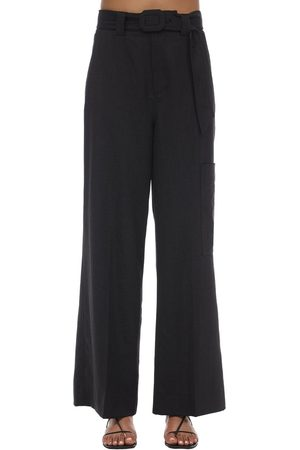 Ganni High Waist Cool Wool Pants