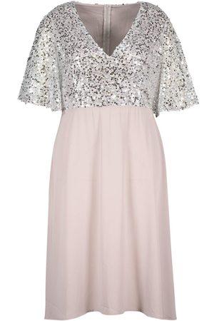 Boohoo Dame Midikjoler - Plus Occasion Sequin Angel Sleeve Midi Dress