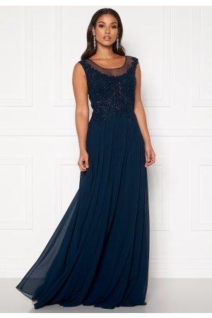 Susanna Rivieri Dream Chiffon Dress Navy 34 (ES36)