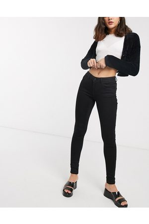 Noisy May Dame High waist - High waisted body shaping jean in black