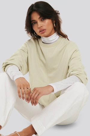 NA-KD Dame Sweatshirts - Relaxed Fit Front Pocket Sweatshirt