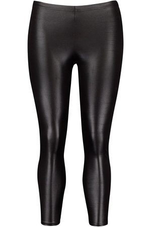Boohoo Plus PU Ruched Bum Legging
