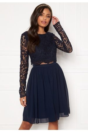 Moments New York Elinore Crochet Dress Navy 38