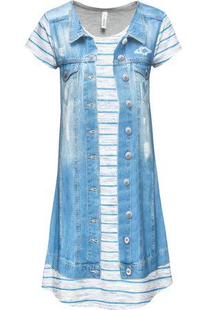 bonprix Dame Mønstrede kjoler - Kjole med jeansprint