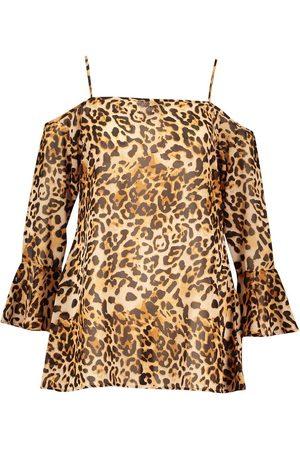 Boohoo Plus Beach Leopard Swing Dress