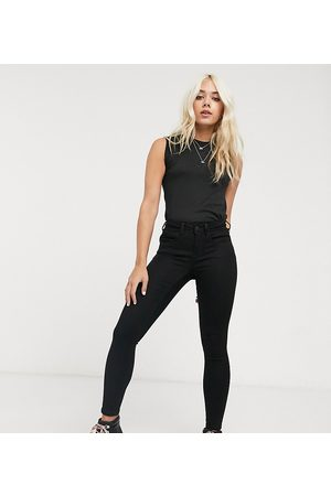 Noisy May High waisted body shaping jean in black