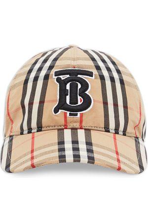 Burberry Herre Capser - Monogram motif check print baseball cap