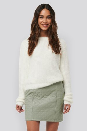 NA-KD Quilted PU Skirt