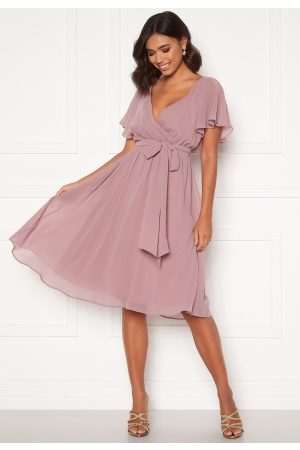 Goddiva Flutter Chiffon Dress Lavender XXL (UK18)