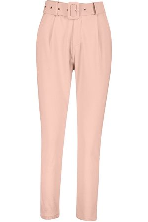 Boohoo Self Belt Tailored Trouser