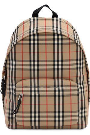 Burberry Herre Ryggsekker - Jett Check Canvas Backpack