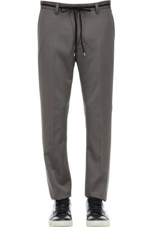 Lanvin Loose Wool Gabardine Trousers