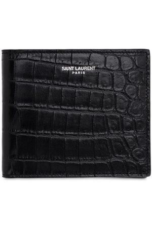 Saint Laurent Eastwest Embossed Leather Wallet