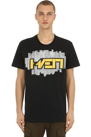 Hærværk 3d Patch Cotton Jersey T-shirt