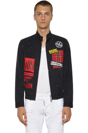 Dsquared2 Zip-up Cotton Twill Chino Jacket