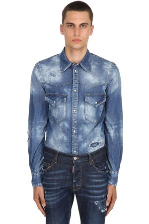 Dsquared2 Western Bleached Denim Shirt