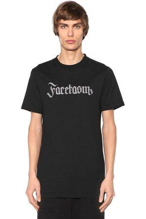 FACETASM Logo Embroidered Cotton Jersey T-shirt