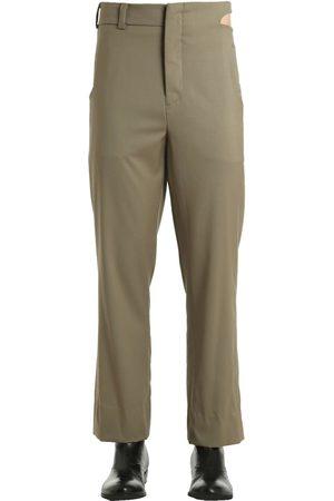 Vejas Waist Cutout Wool Gabardine Pants