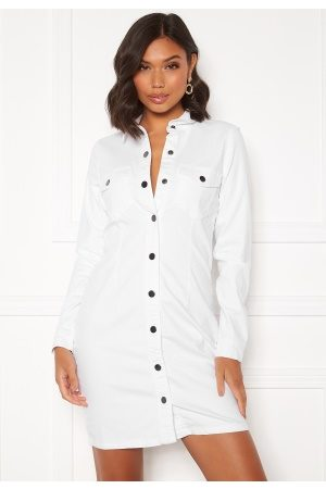JACQUELINE DE YONG Sanna Denim Dress White XL