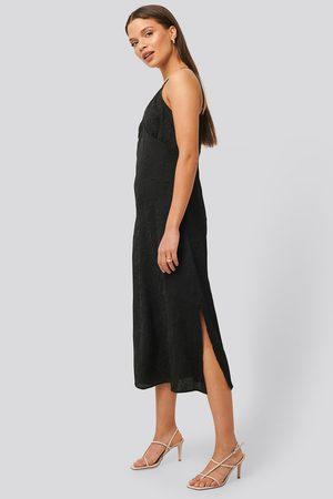 NA-KD Dame Bodycon kjoler - Satin Wrinkle Dress