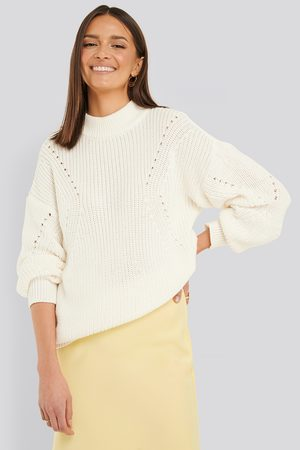 NA-KD Detail Knitted Oversized Sweater