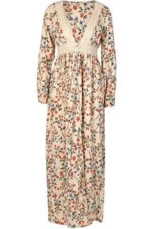 Boohoo Floral Crotchet Trim Button Detail Split Kimono