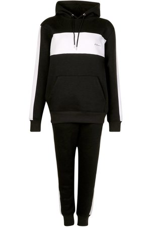 Boohoo Woman Embroidered Colour Block Stripe Tracksuit