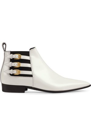 Gucci Dame Skoletter - Pointed side buckle ankle boots