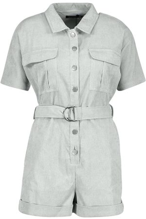 Boohoo Cord Utility Playsuit